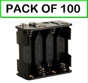 Pack Of 100 Bh383b Battery Holder For 8 X Aa-cell With Snap Terminals