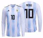 Adidas Lionel Messi Argentina Long Sleeve Home Jersey Fifa World Cup 2018