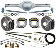 Currie 55-59 Chevy 5-lug Truck Rear End And Wilwood Disc Brakes,black Calipers +++