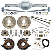 Currie 55-59 Chevy 5-lug Truck Dropped Rear End And Disc Brakeslinesaxle9 Drop