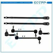 6pcs Inner And Outer Tie Rods Sway Bar End Links For 1993 -1997 Chrysler Concorde