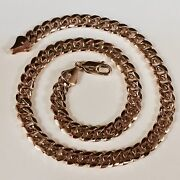 10k Solid Rose Gold Miami Cuban Curb Link 16 8 Mm 52 Grams Chain/necklace