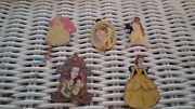 5 Disney's Belle From Beauty And The Beast Trading Pins