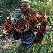 Handmade Copper Rose Bouquet. Valentineand039s Day Anniversary Motherand039s Day Gift