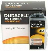 Duracell Hearing Aid Batteries Size 312 - Fast Shipping- Fresh Exp-2024-25