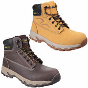Stanley Pro Steel Toe Work Safety Boots Hiker Wheat Or Brown