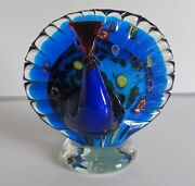 And039and039 Beautiful Murano Peacock Figurine Art Glass Made In Italy And039and039