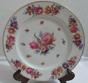 Set Of 5 Vintage Schlaggenwald Dinner Plate With 5 Five Different Flowers Patt