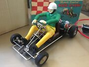Vintage Marx Race A Kart Toy Battery Operated With Box Great Conditionandnbsp