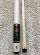 In Stock, Meucci Bmc Glass Rose Pool Cue W/ The Pro Shaft, Free Hard Case