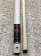 In Stock Meucci Bmc Glass Rose Pool Cue W/ The Pro Shaft Free Hard Case