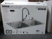 Kohler All In On Kit Sink Faucet Utility Rack And Sink Strainers