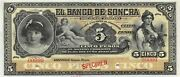 Mexico / Sonora  5 Pesos Nd. 1989 - 1911 S 419s Uncirculated Banknote