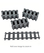18x Straight Trains Rail Non-powered Railroad Construction Toy