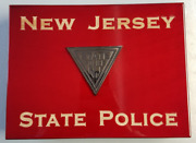 Njsp New Jersey State Police Piano Wood Cigar Humidor Subdued Emblem Accessories