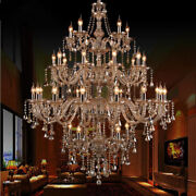 European Style Candle Crystal Chandelier Modern Compound Villa Living Room Light