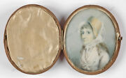George Engleheart-circle Portrait Of A Lady Miniature In Travelling Case, 1793