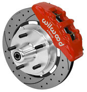 Wilwood Disc Brake Kitfront74-80 Pinto5x512 Drilled6 Piston Red Calipers