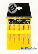 Bergeon 30080-p05 Replaces Of 2868 Set Of 5 Watchmakerand039s Chromed Screwdrivers