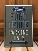 Ford Truck Parking Only Oil Gas Tires Battery Vintage Style Car Truck Coupe
