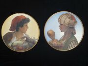 Vintage Porcelain Made In Germany Wall Decoration.north Africa Large