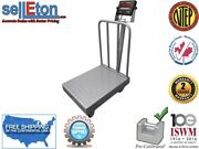 Op-915bwd Ntep Legal For Trade Diamond Plate Bench Scale With Wheels And Backrail