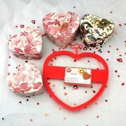 Valentines Day Lot 3 Nesting Heart Boxes New Wilton Giant Heart Cookie Cutter