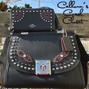 Nwt 1k Coach Western Rivets Drifter Leather Bag And Wallet Set F57120