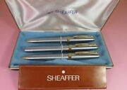 Sheaffer Prelude Gt Set 3 Pieces With Original Case Steel And Gold