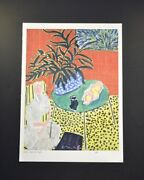 """Henri Matisse, Special Print """"black Fern"""". Hand Signed By Matisse. With Coa."""