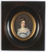 Mlle Antoinette Louise Demarcy -attrib. Portrait Of A Lady Miniature Ca.1810
