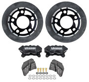 Pro Carbon Rear Brake Completion Kit, 4-3/4 Bc - Caliper Mounts Not Included
