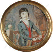Louis-andre Fabre -attrib. Portrait Of A Noble Boy High Quality Miniature