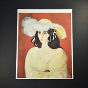 """Henri Matisse, Special Print """"white Plumes"""". Hand Signed By Matisse. With Coa."""