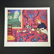 Henri Matisse Special Print Andldquoharmony In Redandrdquo. Hand Signed By Matisse. With Coa