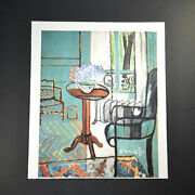 """Henri Matisse, """"the Window – Interior With Forget-me-nots"""". Hand Signed W/ Coa."""
