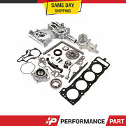 Heavy Duty Timing Chain Kit Water Oil Pump Head Gasket For 85-95 Toyota 22r