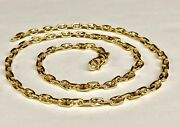 14k Solid Yellow Gold Anchor Mariner Link Chain Necklace 4.5mm 32 Grams 20