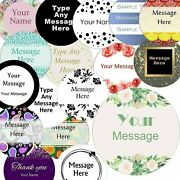 37mm Round Custom Logo Stickers Personalised Business/company Name Labels