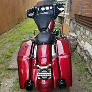 Velocity Red Sunglo Stretched Saddlebag Bottoms For 14+ Harley Street Road Glide