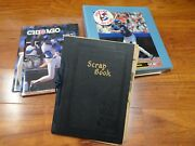 Vintage Chicago Cubs Scrapbook Photo Collectible Lot 1930's-80's 1 Of A Kind