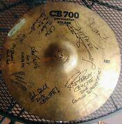 Cb-700 20 Ride Cymbal...signed By The Entire 2018 Cb Roster...