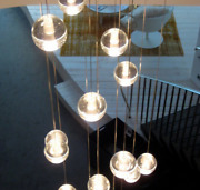 D39 46 Led Blubs Glass Ball Chandeliers Lamp Crystal Ceiling Lights Living Room