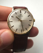 Omega Geneve Automatic 18k Solid Gold 1961 Vintage Watch Mint Condition