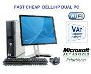 Full Dell/hp Dual Core/amd Desktop Tower Pcandtft Computer Windows 10 And8gb 3tb