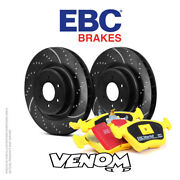 Ebc Rear Brake Kit Discs And Pads For Jeep Wrangler 3.6 2011-