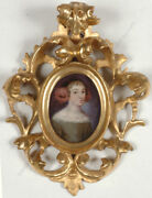 Portrait Of A Young Lady, German Oil Miniature On Copper, Ca.1660