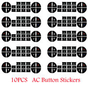 10 Pcs Ac Dash Button Repair Kit Decal Stickers Dash Replacements For 07-14 Gm