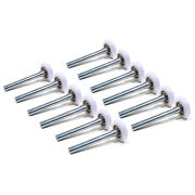 Pack Of 12 2 Nylon Garage Door Rollers With 4 Stem And 11-ball 6200zz Bearing