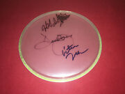 The Monkees Signed Remo Drumhead X3 Davy Jones Micky Dolenz Peter Tork Proof